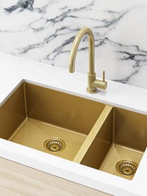 Kitchen Sink Brushed Bronze & Kitchen Sinks Kitchen u0026 bathroom tapware by meir.